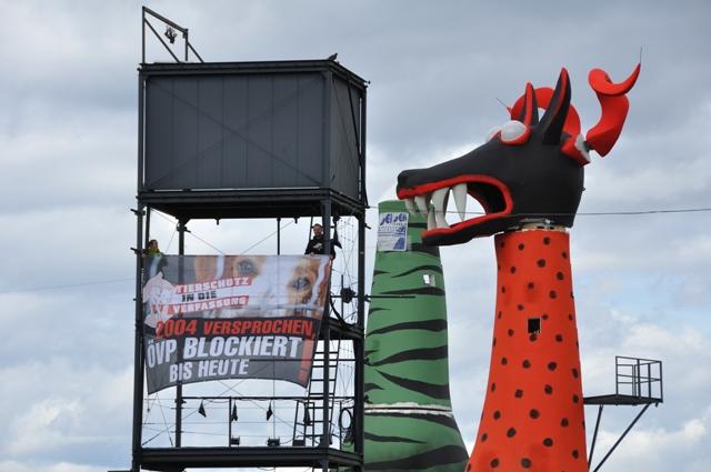 Auf der Festspielbühne Bregenz am Bodensee