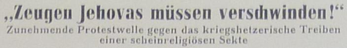 Ein hostorischer Zeitungsartikel aus DDR-Zeit: die Losung der Regierung