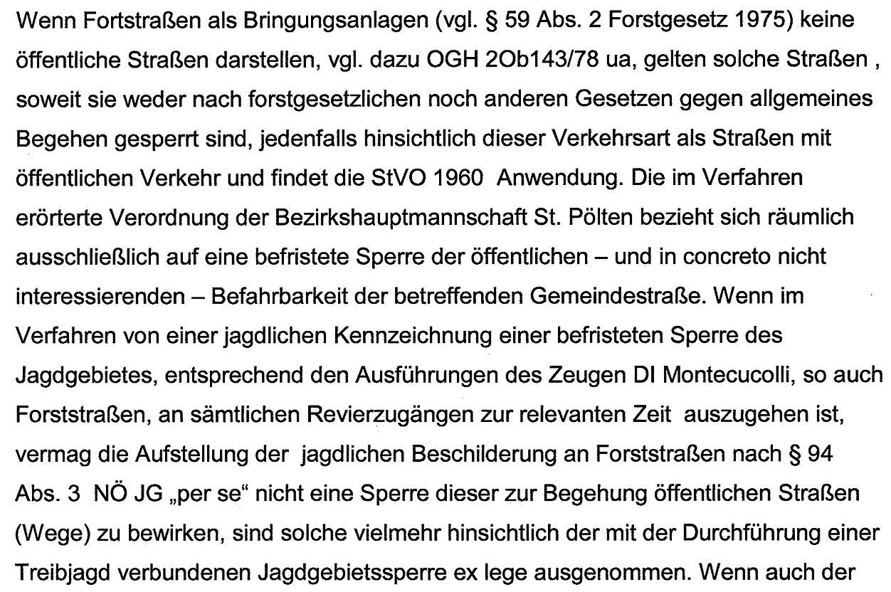 UrteilJagdsperreÖffentlicheStraße