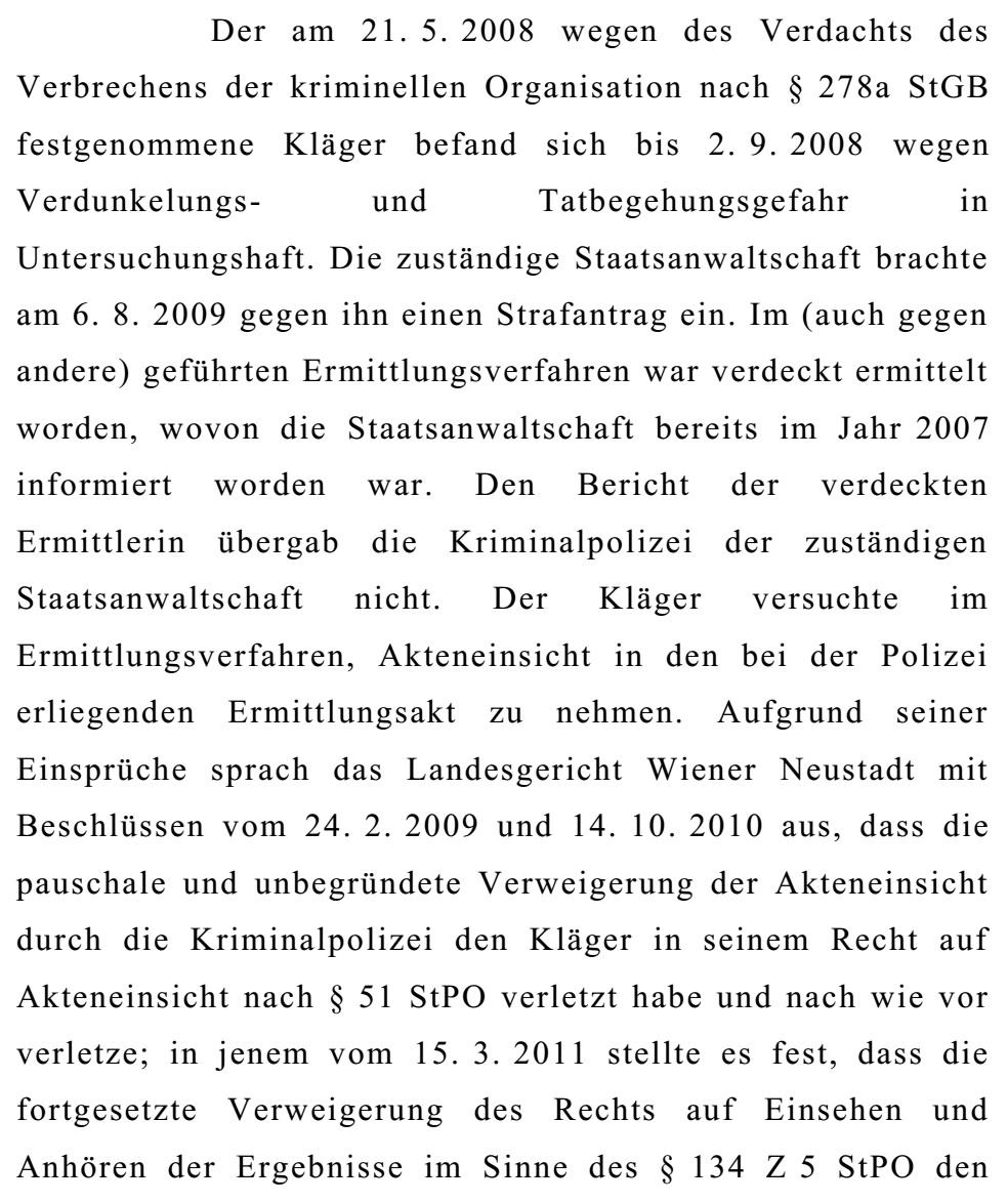 OGHBeschlussKlageSchaden01