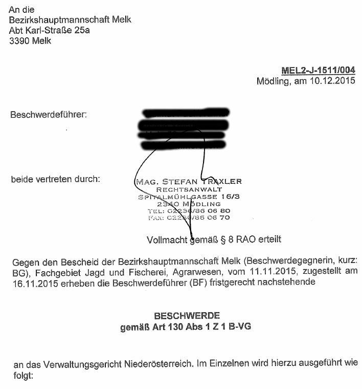 BeschwerdeVerwaltungsgerichtMelk1