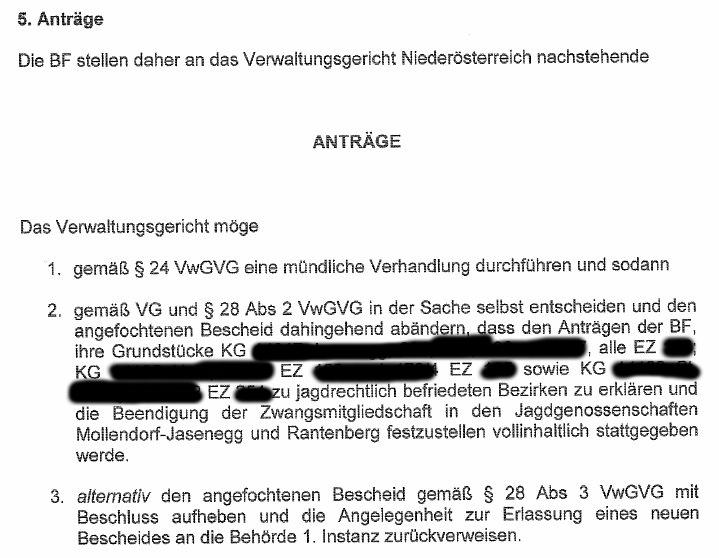 BeschwerdeVerwaltungsgerichtMelk5