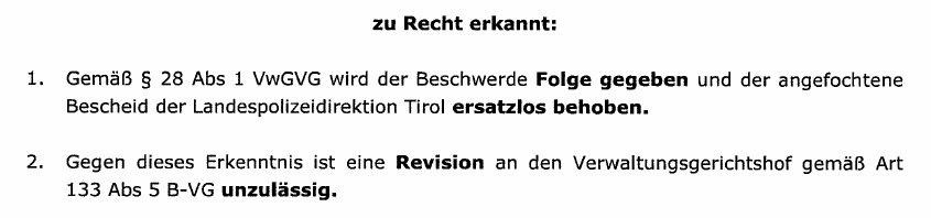 AutobahndemoTirolUrteilLandesverwaltungsgericht1