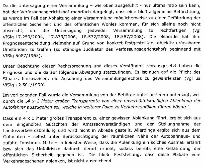 AutobahndemoTirolUrteilLandesverwaltungsgericht3