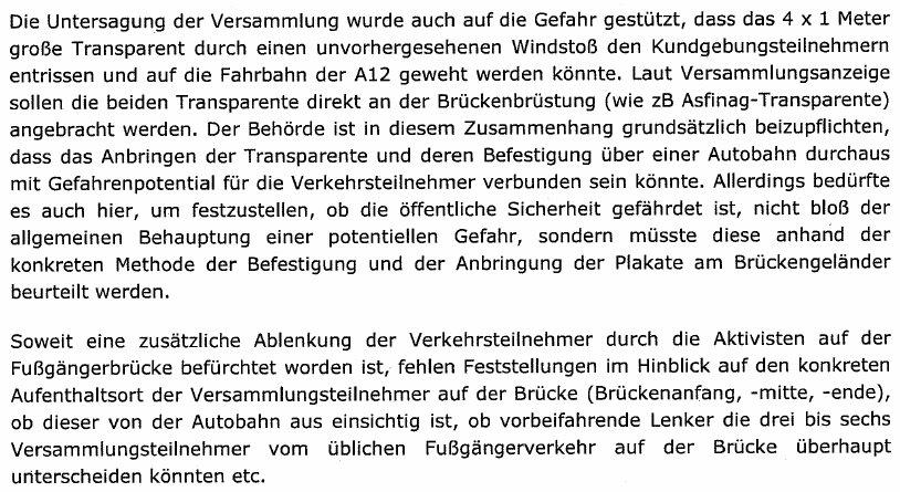 AutobahndemoTirolUrteilLandesverwaltungsgericht4