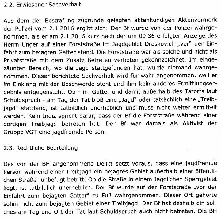 GatterjagdDraskovichLandesverwaltungsgerichtFreispruch2